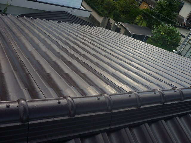 施工後の屋根全体