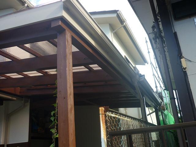 車庫の木部塗装