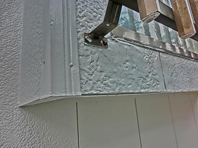 施工後窓枠付近凍害箇所