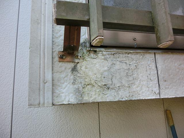 施工前窓枠の凍害