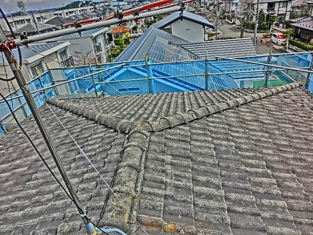 施工前屋根劣化