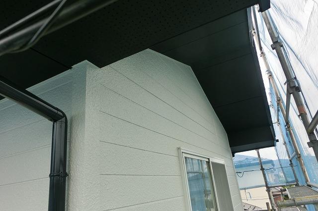 施工後 軒天竪樋外壁