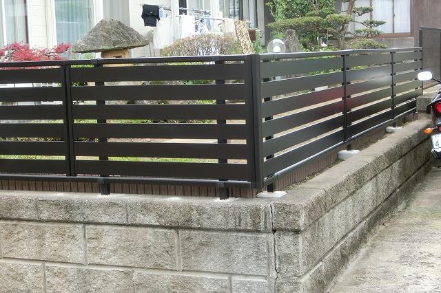 施工後のフェンス
