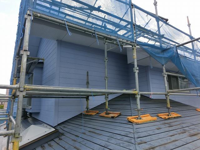 施工前の北側屋根足場