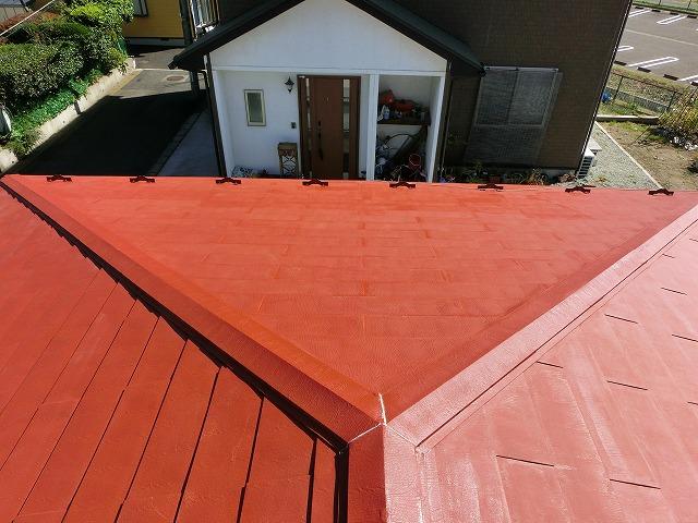錆止め後の屋根全体
