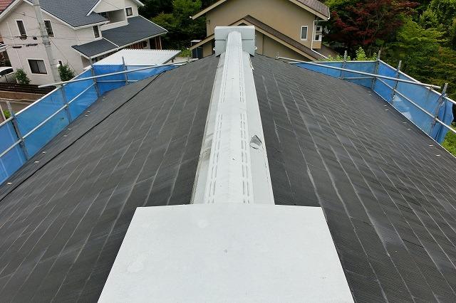 洗浄したコロニアル屋根