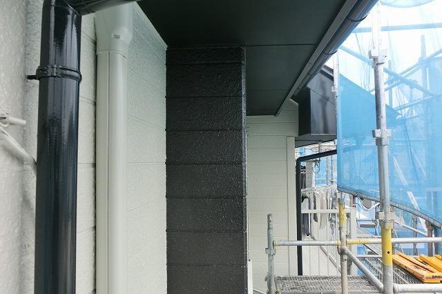 施工後 外壁付帯部