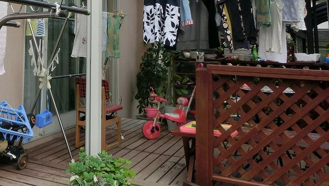 仙台市泉区で、手作りウッドデッキの塗装その他サービス工事を行いました