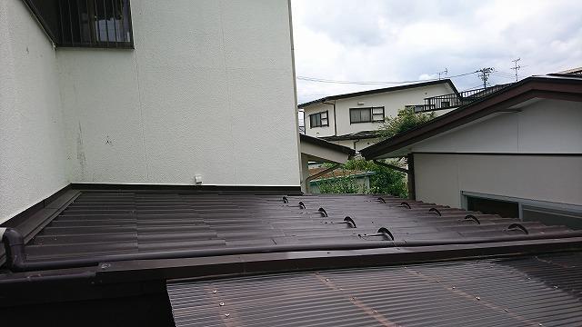 屋根北西側施工後3年点検