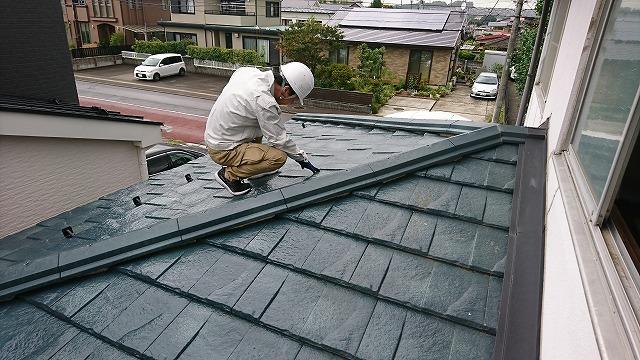 屋根菱側カバー工法3年点検