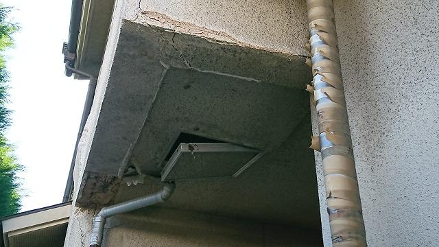 2階お風呂場が抜け落ちそうな劣化