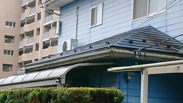 横葺き金属屋根の劣化