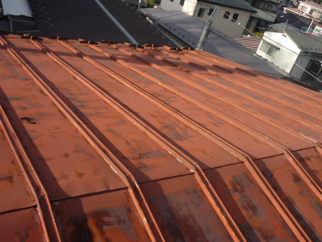 施工前トタン屋根
