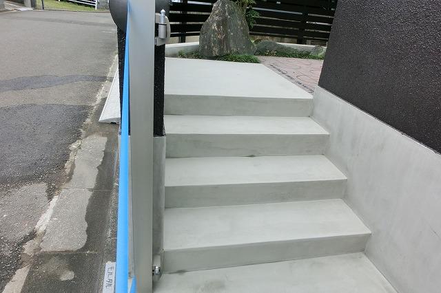 施工後 アプローチ階段