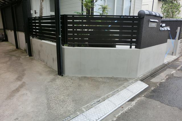 施工後の門塀(擁壁)