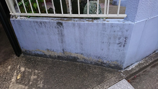 施工前の擁壁
