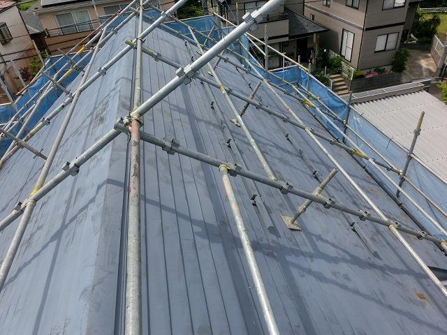 施工前 横葺き金属屋根